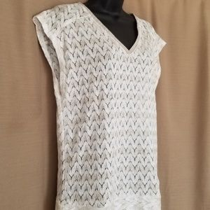 The Limited White Lace top EUC